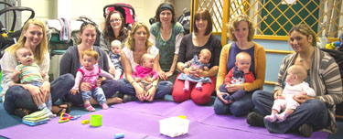 Becci Johnson and breastfeeding support group