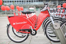 Santander cycle challenge bicycles